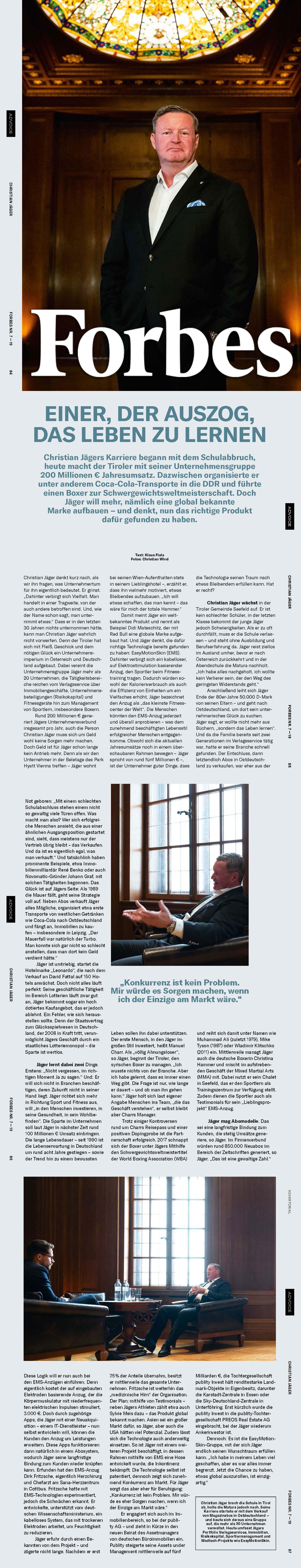 Das Forbes Magazine im Gespräch mit Christian Jäger